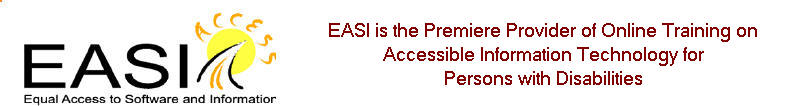 EASI: Equal Access to Software and Information homepage